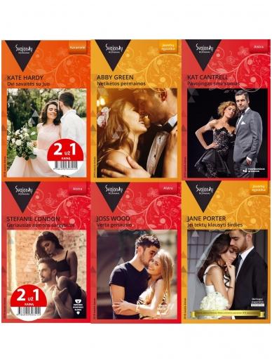 2018 sausis–kovas Svajonių romanų rinkinys (6 knygos)