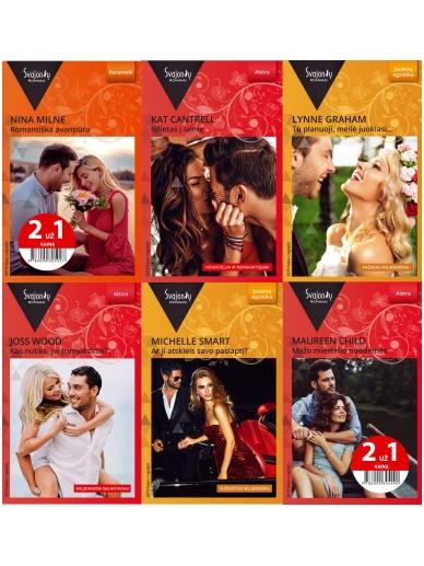 2019 liepa-rugsėjis Svajonių romanų rinkinys (6 knygos)