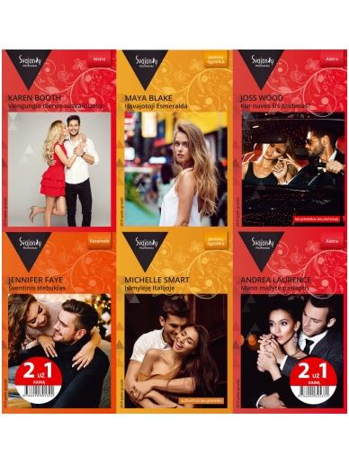 2019 spalis-gruodis Svajonių romanų rinkinys (6 knygos)