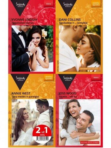 2020 liepa–rugsėjis Svajonių romanų rinkinys (4 knygos)
