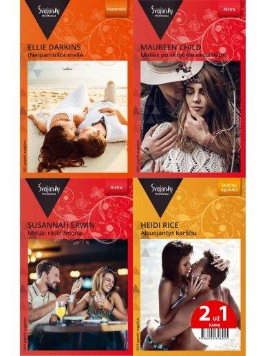 2021 gegužė–rugpjūtis Svajonių romanų rinkinys (4 knygos)