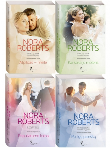 Nora Roberts. Oharlėjų šeima: Gyvenimas už scenos (4 knygos)