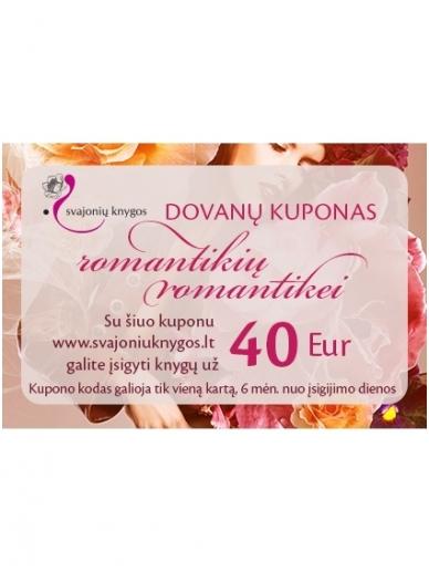 Svajonių knygų elektroninis DOVANŲ KUPONAS 40 Eur